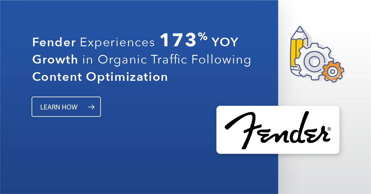 Fender's Organic Search Traffic Surges 173% YOY Thanks to seoClarity