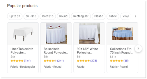Featured Snippet Product Carousel