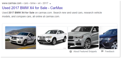 Featured Snippet with Image Carousel
