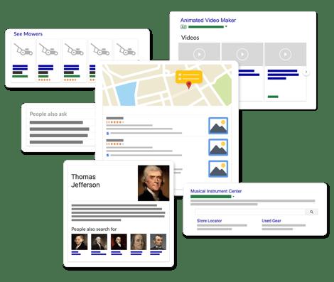 Google SERP Features Mockup v1