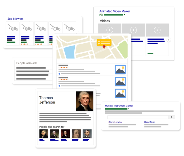 Google SERP Features Mockup v1