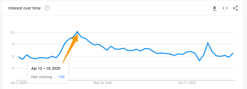 Google Trends Hair Coloring