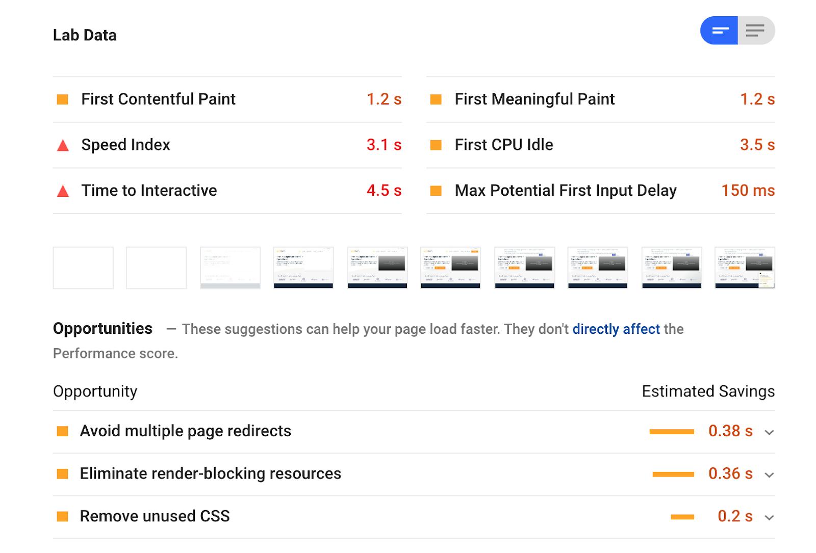 GoogleSpeedTest
