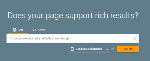 Googles Rich Results Test