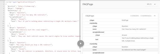 Googles Structured Data Testing Tool Properly Reading the FAQ Schema