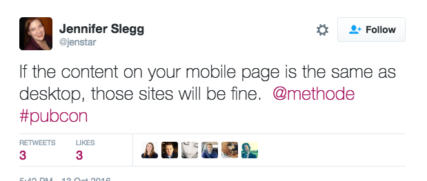 desktop vs. mobile pages in the mobile-first index