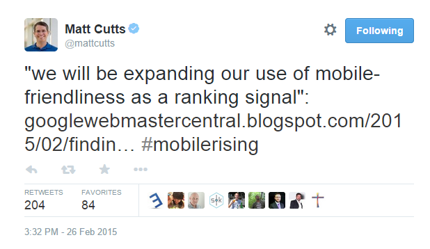 Matt-Cutts-Mobile Tweet