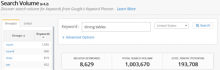 dining-tables-Search-Volume