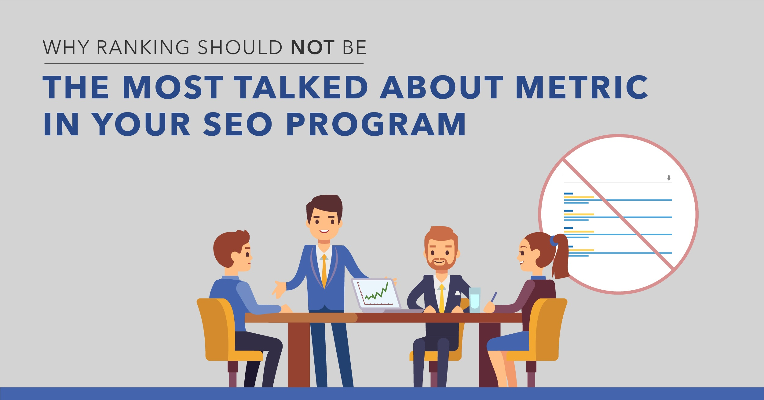 Why Rankings Shouldn't Be the Most Talked About Metric in Your SEO Strategy - Featured Image