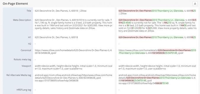 Page Comparison Image New