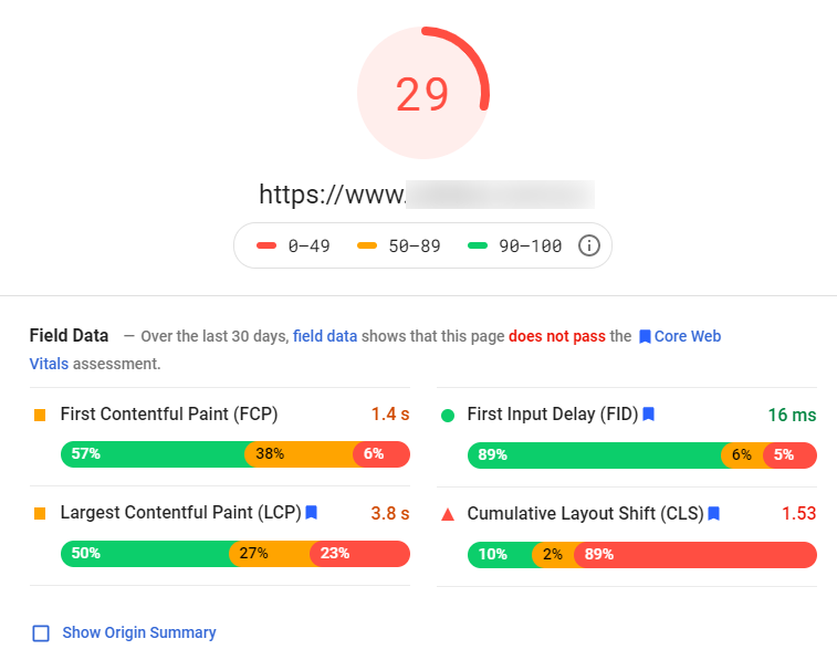 PageSpeed Insights on Google