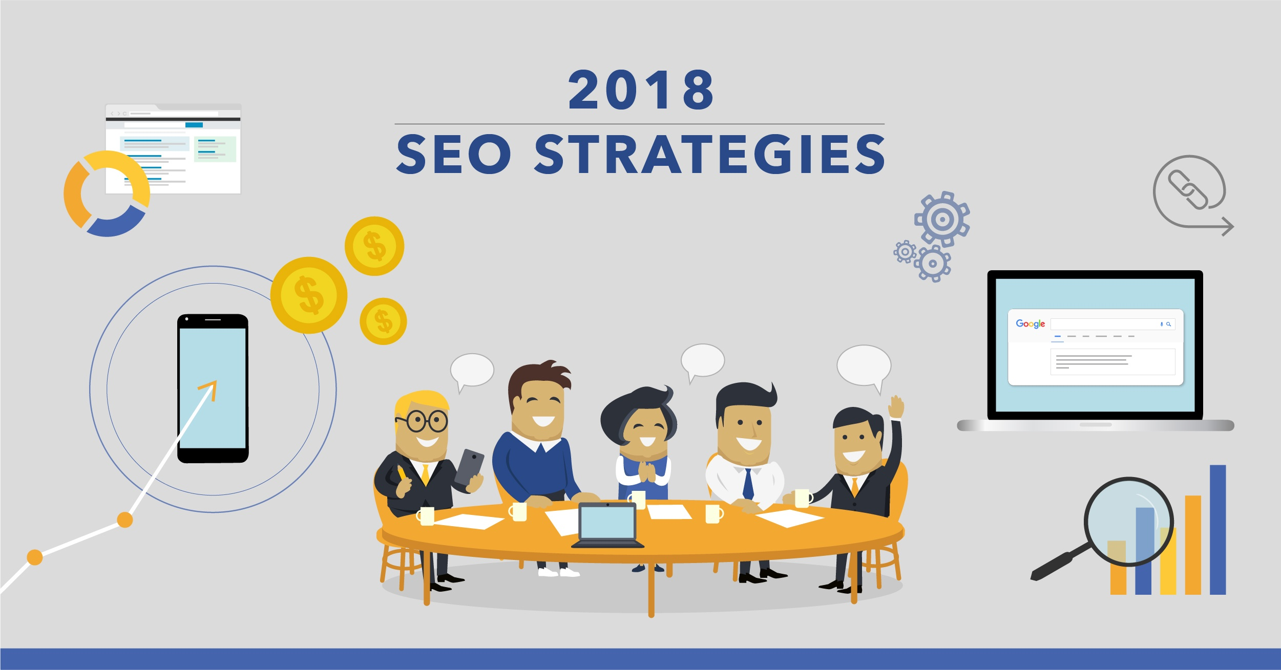 6 SEO Strategies to Focus on in 2018 - Featured Image