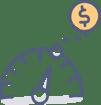 Turn Up Return_Investment_Dollars_Speedometer
