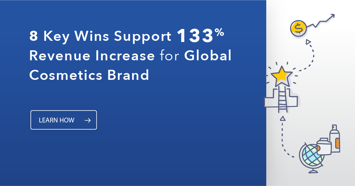 Website Case Study Covers Global Cosmetics Brand
