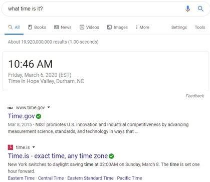 Zero-Click Search Example