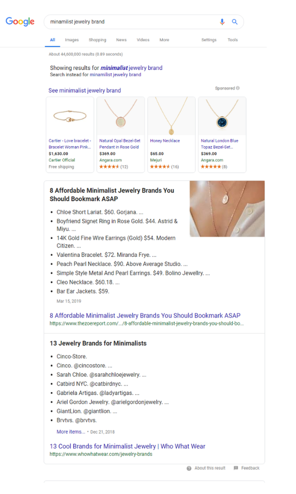 featured snippet double answer box