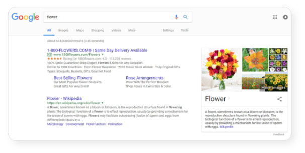 google-search-flower