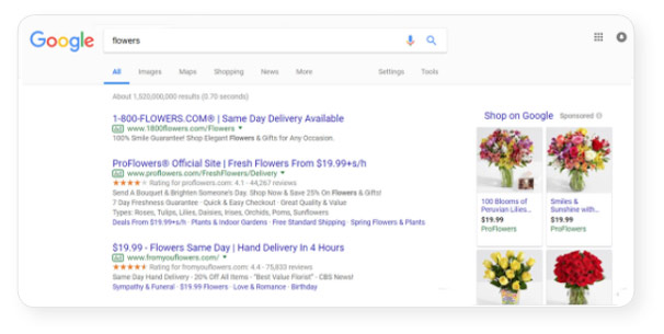 google-search-flowers