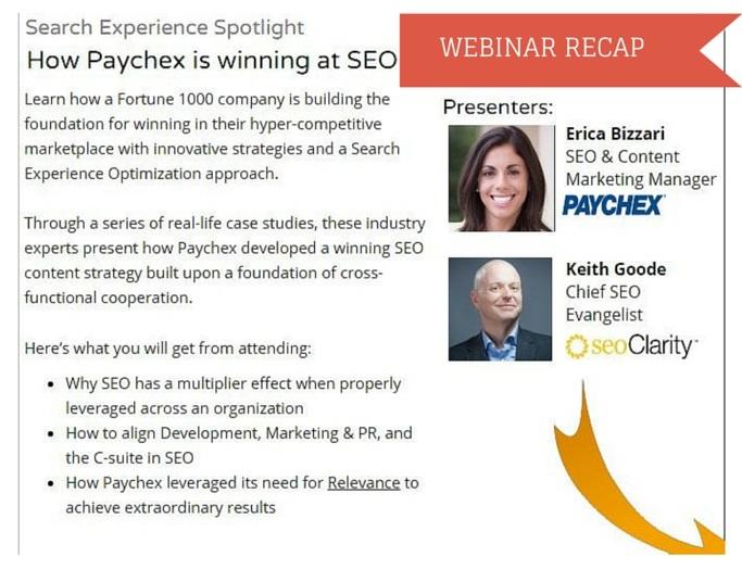 Webinar Recap-How Paychex is Winning at SEO with Erica Bizzari