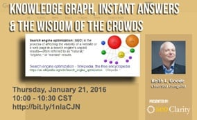 Webinar Recap-Knowledge Graph, Instant Answers and the Wisdom of the Crowds