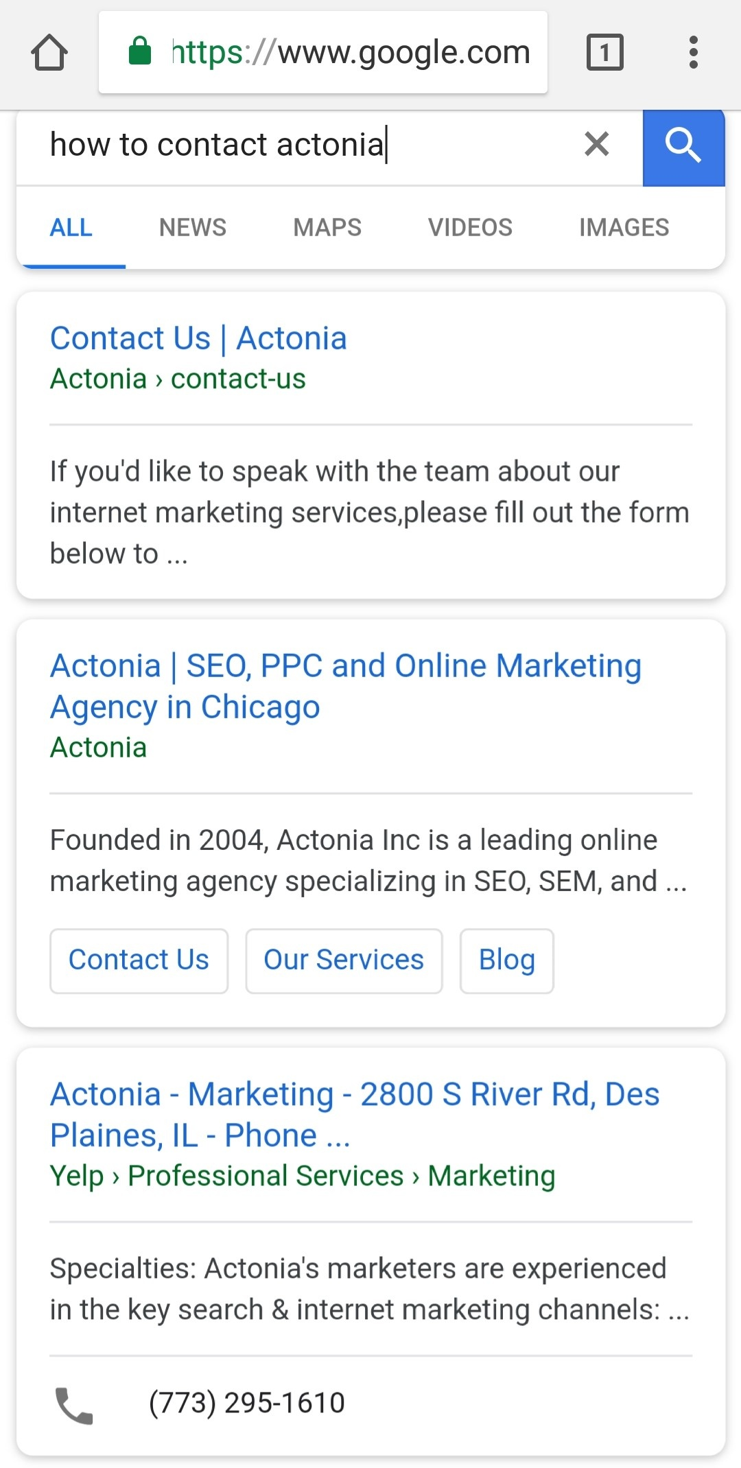 mobile search image