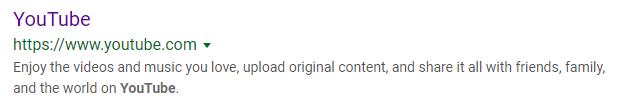 youtube - meta description