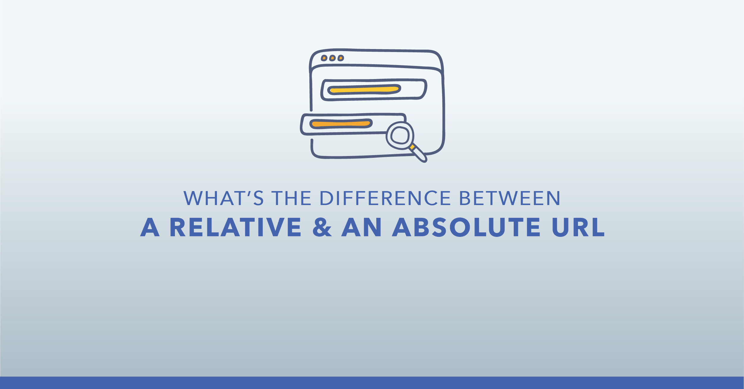 What is the difference between a relative and an absolute URL?