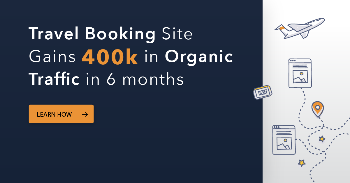 400K Increase in Monthly Organic Traffic for Travel Booking Site After 6 Months of Leveraging seoClarity's Deep Data at Scale