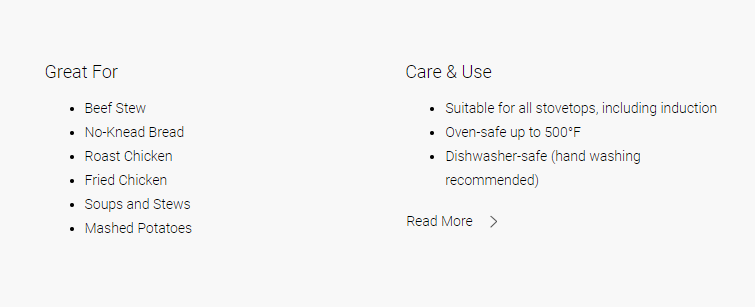 """Including a """"How to Use"""" section on a product page let's users see if this is the right product for them."""